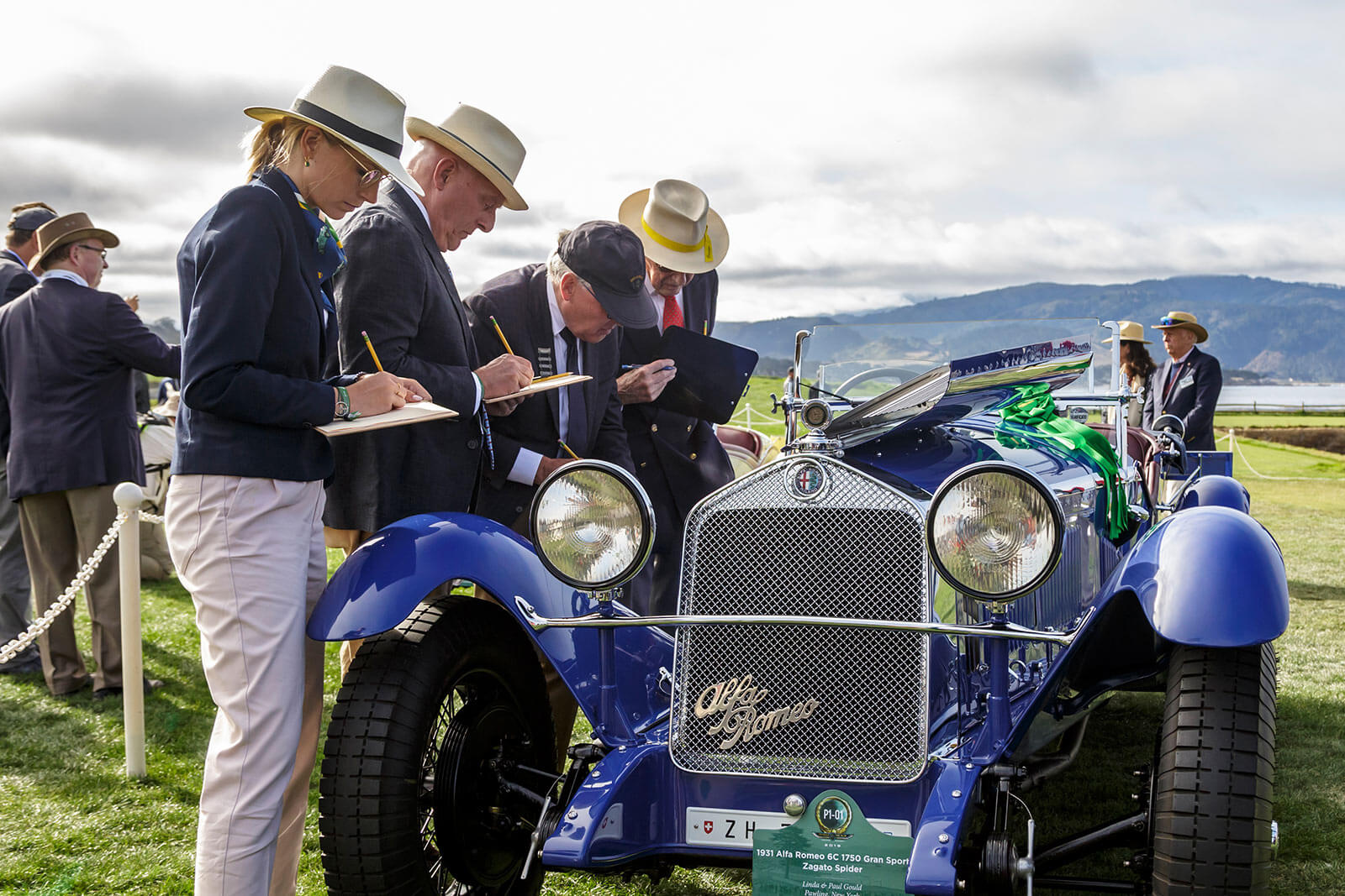 Judging at the Pebble Beach Concours d'Elegance