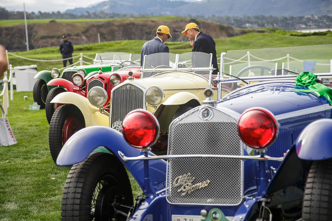 Alfa Romeos on the Show Field at Pebble Beach Concours d'Elegance