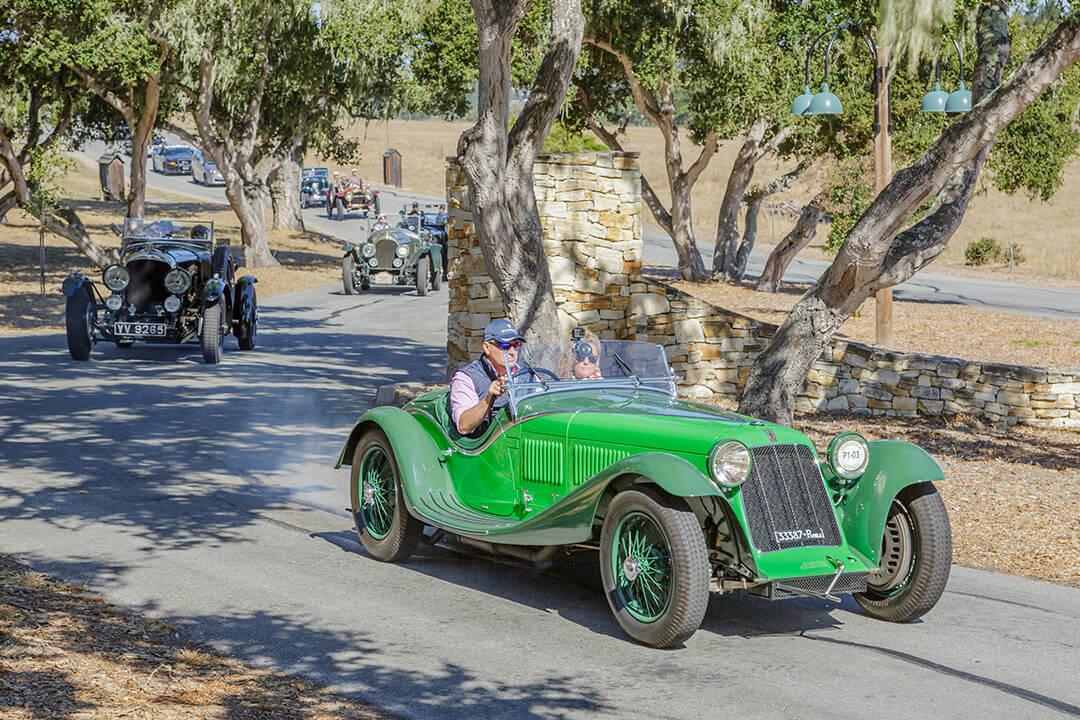 The Pebble Beach Tour d'Elegance driving through Tehama in Carmel, CA