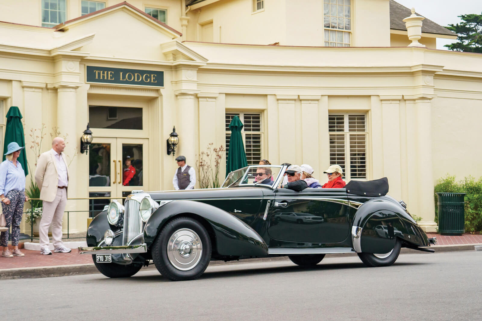 The Pebble Beach Tour d'Elegance passes The Lodge at Pebble Beach