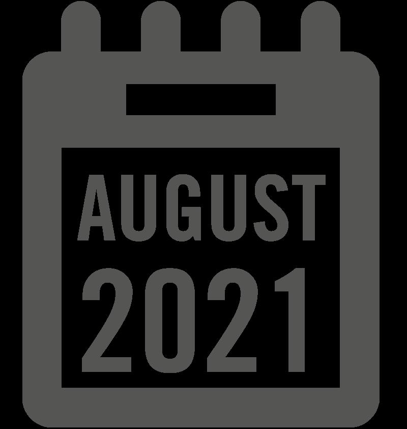 August 2021 calendar icon