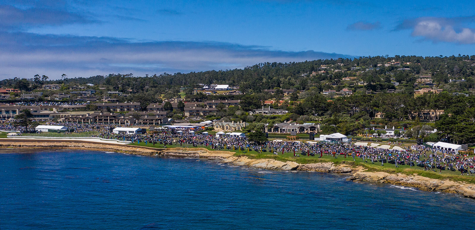 Overhead view of Pebble Beach Concours d'Elegance