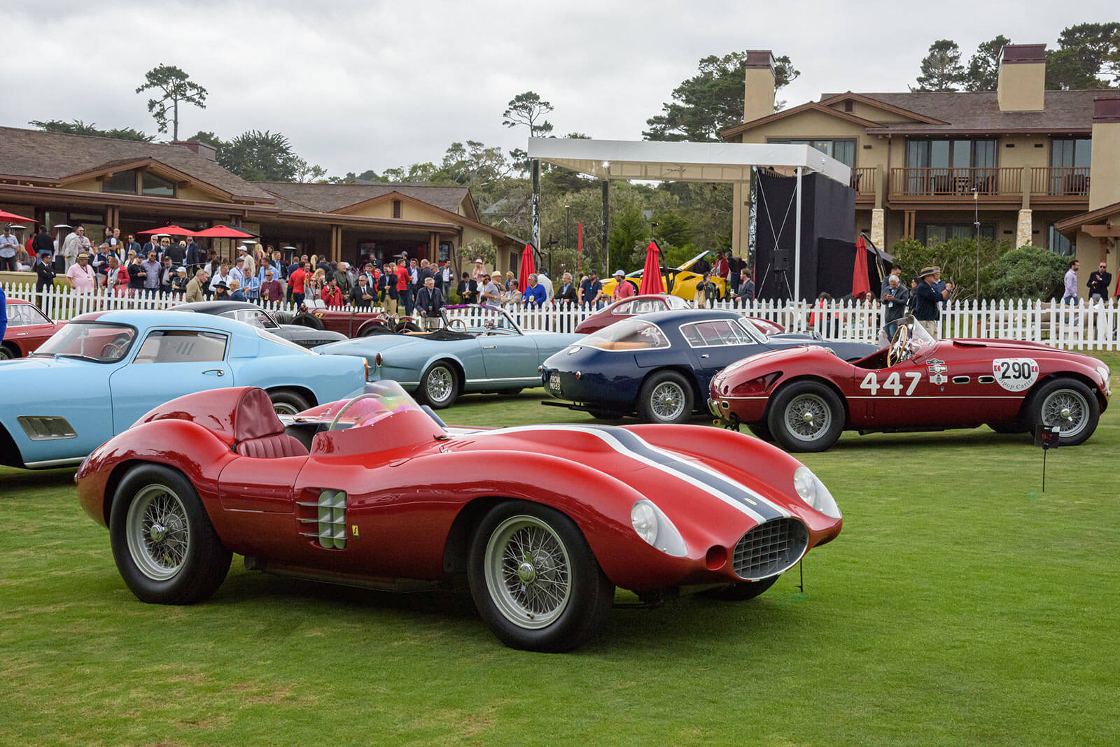 Ferrari display at Pebble Beach Concours d'Elegance