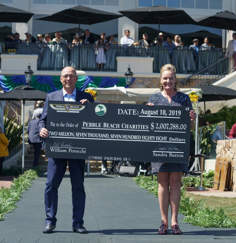 Pebble Beach Concours d'Elegance Chairman Sandra Button and Pebble Beach Company CEO, Bill Perocchi