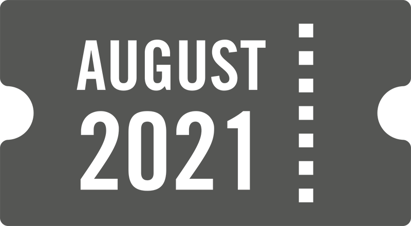 August 2021 ticket icon