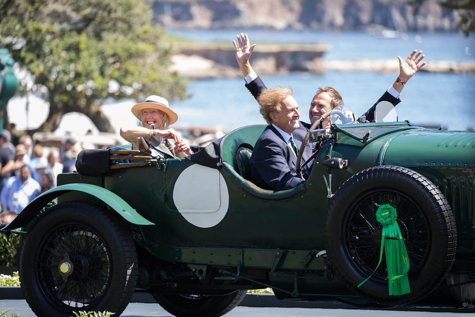Winners crossing the ramp at the Pebble Beach Concours d'Elegance 2019