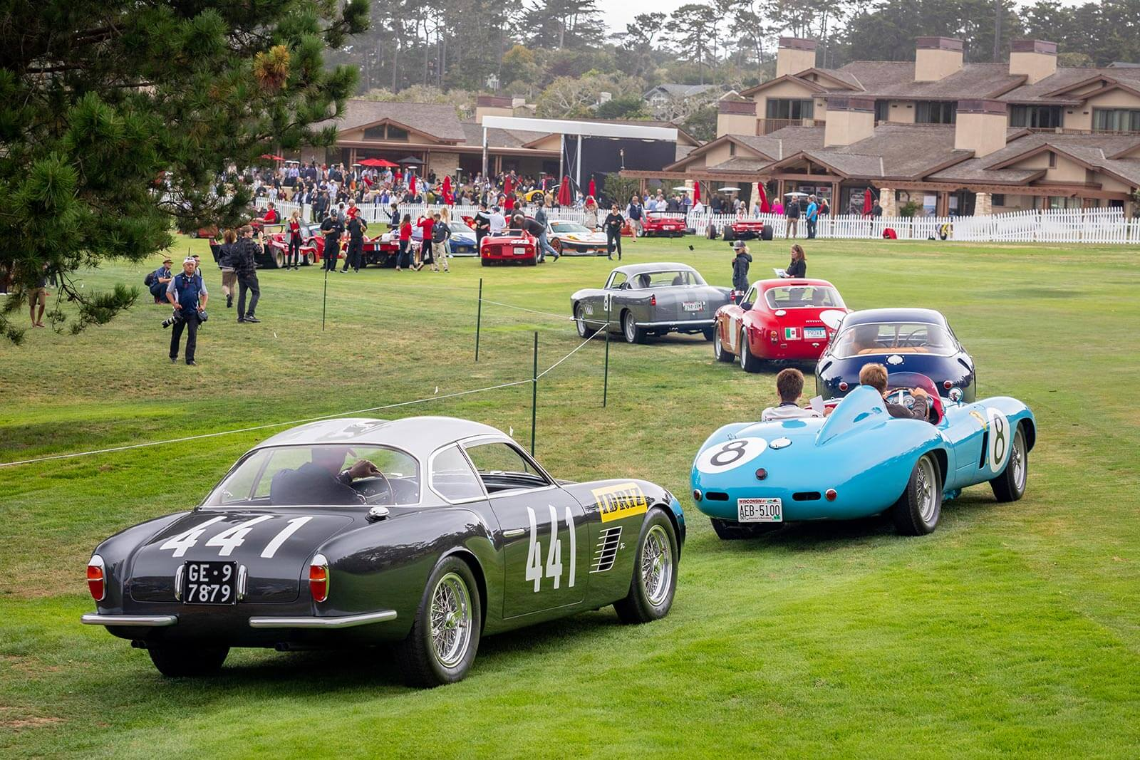 Ferrari Parade at Pebble Beach Concours
