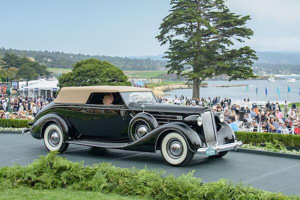 1937 Packard 1508 Twelve Rollston Convertible Victoria